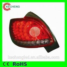 best selling car accessories 12 V peugeot 206 body kit led tail light