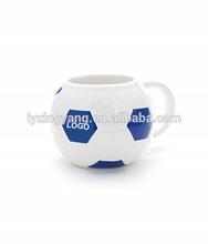 Creative Design Brazil World Cup Porcelain Football coffee Mug Cup/ball shape mug with big belly