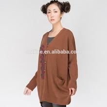 Moq 20 pezzi piccolo ordine all'ingrosso del ricamo poliestere 100 cappotti maglione lavorato a maglia