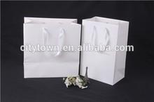 Wuhan Sinicline Custom Luxury Logo Printed Gift Bags White Bags