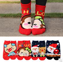 lovely cartoon animal and santa warm winter girl sock