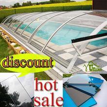 100% de la virgen lexan mejor precio de plástico duro piscinas