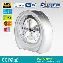 1280*720P alarm via email onvif DVR NVR table clock network surveillance camera TCC-720SWF