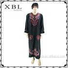 dubai men black abaya sleeves designs