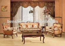 S2923 Guangzhou classic furniture, living room sofa set , sofa wooden frame fabric cover