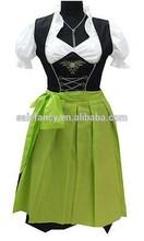 Bavarian German Trachten Dirndl Dress Oktoberfest Costume QAWC-2456