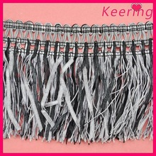 cheap wholesale gray tassel fringe trimmng for dress WTP-1289