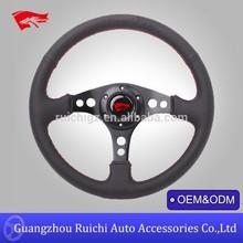 350mm Flat Dish Car Phone Steering Wheel