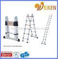 Wk-jl06 3.8m doble cara de aluminio escalera plegable de aluminio material de aluminio escalera telescópica wurth
