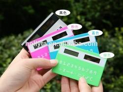 China Thin/Wallet Sized debit card Solar Powered calculator HC-324B