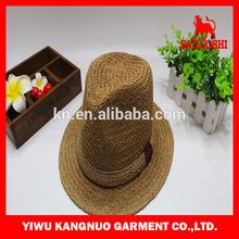 Fashion hign quality paper straw handmake men fedora hat