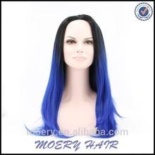 Girl Cosplay Blue Wig