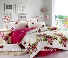 Elegant european design cotton printed duvet cover set