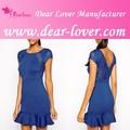 Billige 2014 pep Saum Skater-Kleid transparenten latexkleid