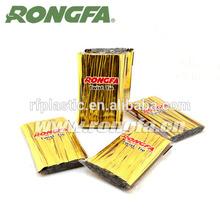 Golden Plastic twist tie 1000pcs in bag