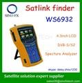 4.3'' lcd hd dvb-s mpeg4/s2 localizador por satélite satlink ws-6932