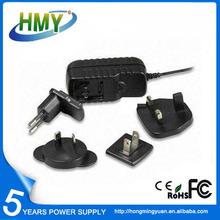 CE/FCC/UL Certificates 15V 1.2A Interchangeable Plug Power Adapter