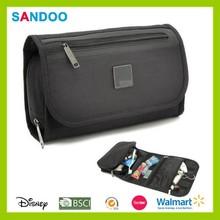 2015 China factory new product black foldable travel toiletry kit, custom vanity bag