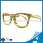 Multi Color Bamboo Glasses Maple Bamboo Polarized / prescription