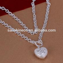 Promotional zircon heart pendant necklace