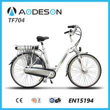"lightweight 28"" aluminium alloy frame city electric bicycle ,city electric vehicle ,250w electric bike for ladies"