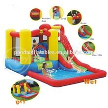 inflatable bouncer water slide/inflatable 18' wahoo water slide