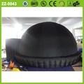 5 m de proyección / película planetario inflable tienda de campaña / aire cúpula del planetario