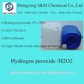 Industrial& de grado de alimentos de peróxido de hidrógeno