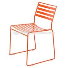 stackable powder coated outdoor garden metal wire side chair