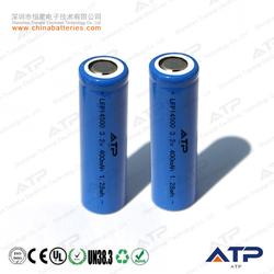 Long cycle life lfp battery 14500 3.2v 400mah / 14500 3.2v lifepo4 battery / 14500 battery