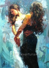 wall art dance couple painting on canvas for living room
