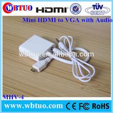 Mini HDMI To Vga Cables with video support Mini HDMI f to vga m audio
