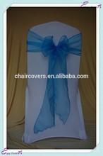 YHS#13 organza polyester banquet wedding wholesale chair cover sash