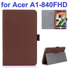 New Arrival Flip Stand Leather Case for Acer A1-840 with Filco