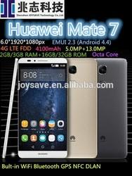 """New!!Original Huawei Ascend Mate 7 Octa Core Smart phone 6.0"""" 1920*1080px FHD 4G LTE FDD 2GB/3GB RAM 5.0MP+13.0MP 4100mAh NFC"""