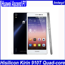 Huawei Ascend P7 Dual SIM 4G LTE Original Phone Android 4.4 Quad Core 5 Inch Screen 2GB RAM 16GB ROM Mobile Phone Black White