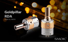 Newest big capacity mechanical mod atomizer goldpillar RDA stainless rebuildable disposable cartomizer