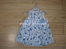 hot sale baby 100% cotton flower girl dress