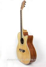 Top quality beautiful voice cheap custom brand guitar