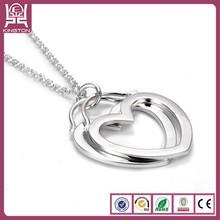 girlfriend necklace heart shape mat frame pendant