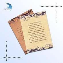 Custom high end Latest luxurious wooden wedding card designs