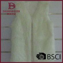 Professional Factory TOP10 Best Sale!! white fashion women fur vest