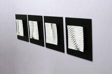 abstract modern 3d wall art