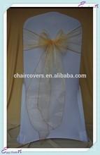 YHS#54 organza polyester banquet wedding wholesale chair cover sash