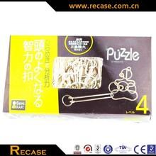 interlocking metal puzzle item for adult IQ metal brain teaser games