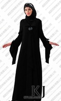 Kyle and Jane WAB 1039 Modesty Latest Design Arabic balck jilbab with bleading
