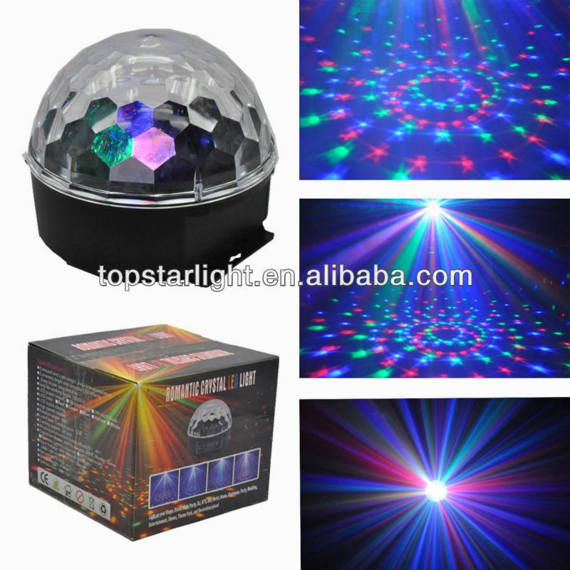 Kapalı led kristal disko topu ışık/asılı kristal top avize