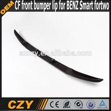 Carbon fiber front bumper lip for Smart fortwo
