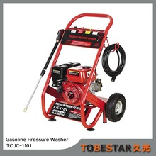 Gasoline High Pressure Washer Used For The Deck Cleaning