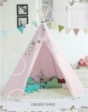 Crianças tenda tenda, lona de algodão de madeira pólo teepee estilo indiano, yuetor marca